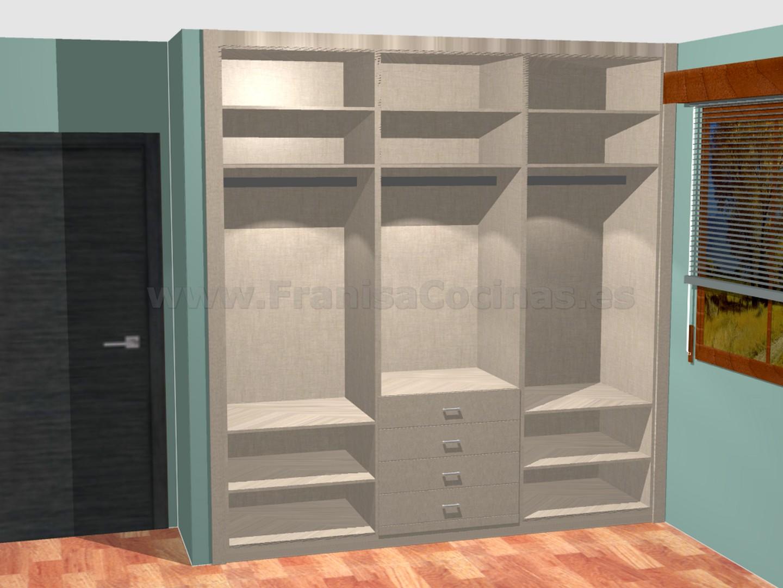 Dise o interior de armario empotrado franisa cocinas - Diseno interior armario ...