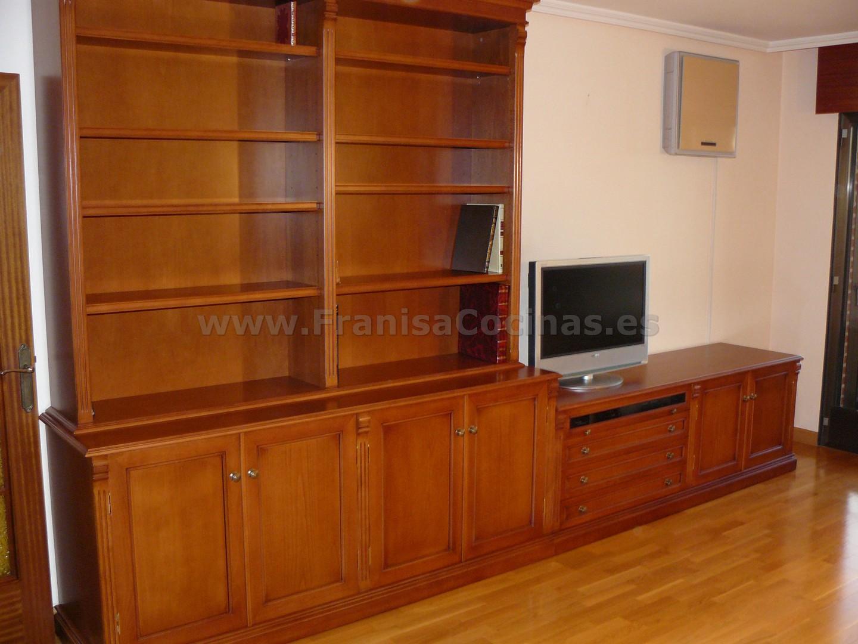 Mueble librer a sal n de madera a la medida franisa cocinas - Muebles de madera a medida ...