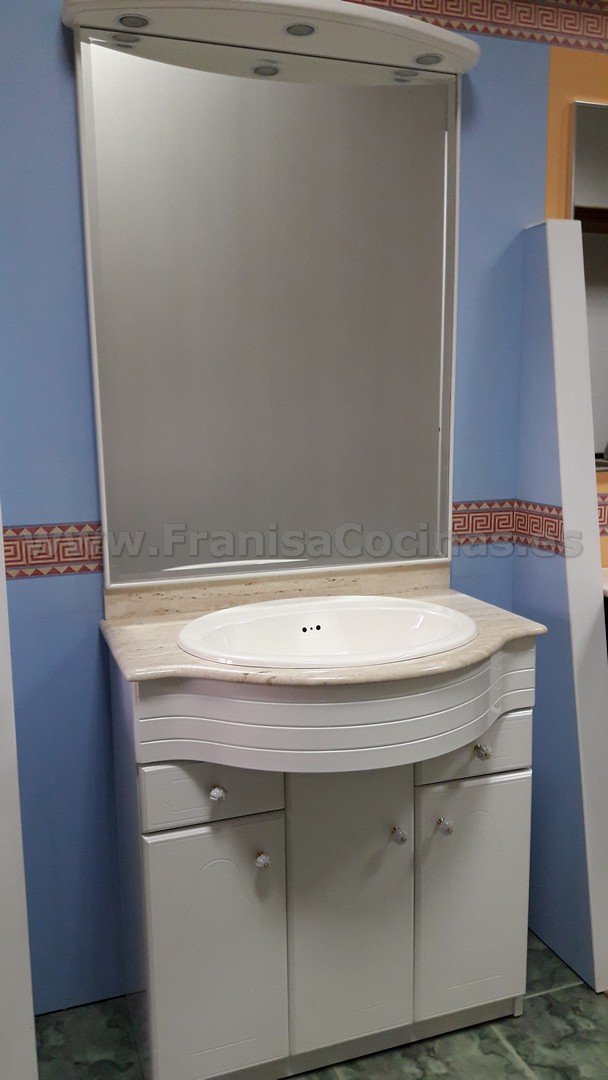Mueble de ba o lacado blanco de exposici n franisa cocinas - Exposicion banos ...