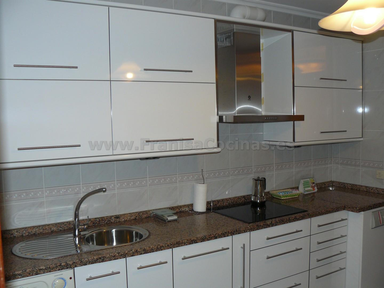 Muebles de cocina laminado estratificado blanco brillo AR+ – FRANISA ...