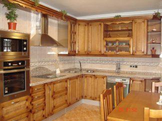 Muebles de cocina rústica madera pino – FRANISA Cocinas