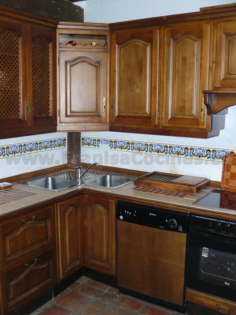 Muebles de cocina r stica madera pino franisa cocinas - Muebles cocina rustica ...